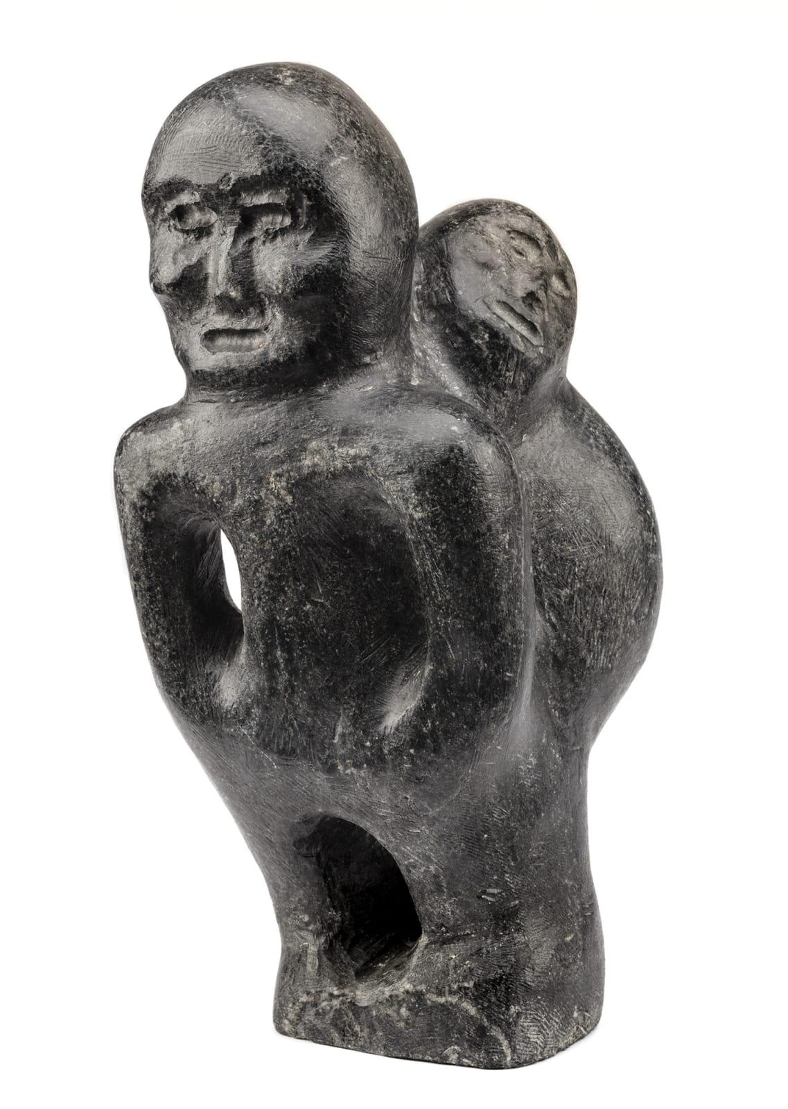 Lot 90 JOHN TIKTAK, R.C.A. (1916-1981) KANGIQLINIQ (RANKIN INLET) Mother and Child, early 1970s stone, 9.5 x 4 x 4 in (24.1 x 10.2 x 10.2 cm) Estimate: $20,000— $30,000