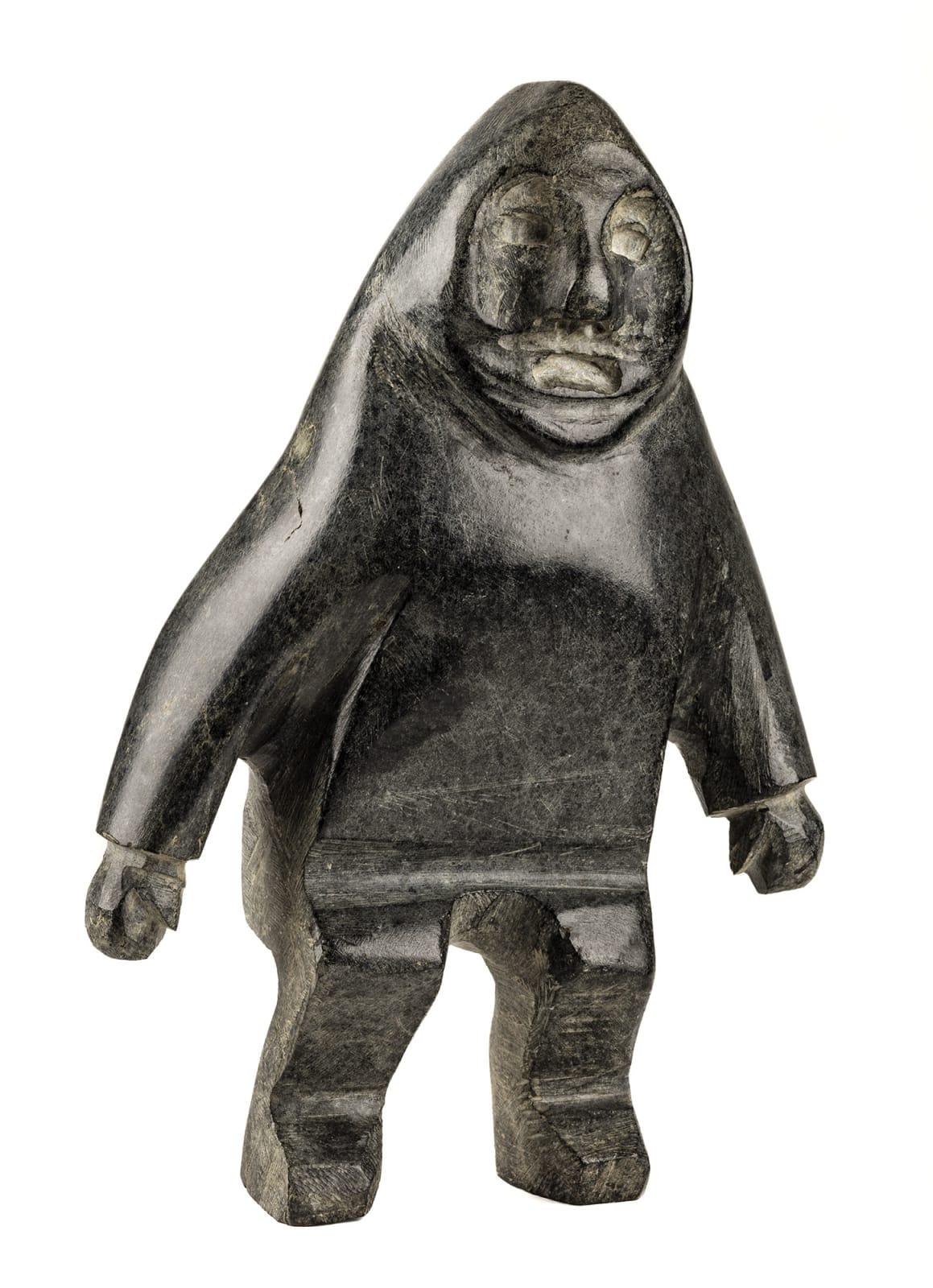 Lot 11 JOHN KAVIK (1897-1993) KANGIQLINIQ (RANKIN INLET) Standing Man, mid-late 1960s stone, 9.75 x 6.75 x 3.25 in (25 x 17 x 8.5 cm) Estimate: $5,000 — $7,000 Price realized: $4,800