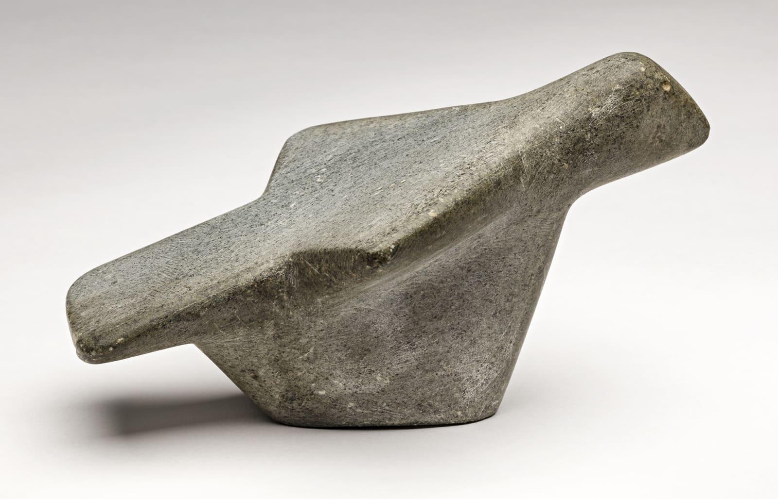Lot 3 ANDY MIKI (1918-1983), ARVIAT (ESKIMO POINT) Bird in Flight, c. 1967-69 stone, 3.75 x 4.5 x 6.75 in (9.5 x 11.4 x 17.1 cm) Estimate: $3,500 — $5,000