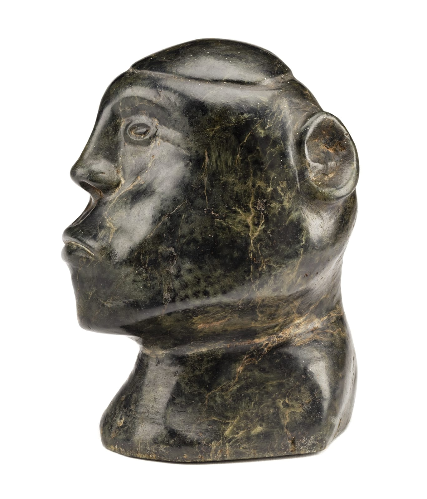 Lot 48 CHARLIE EPOO (1913-1985) INUKJUAK (PORT HARRISON) Head of a Man, late 1950s stone, 5.5 x 4.25 x 5.5 in (14 x 10.8 x 14 cm) Estimate: $2,500⁠ — $3,500