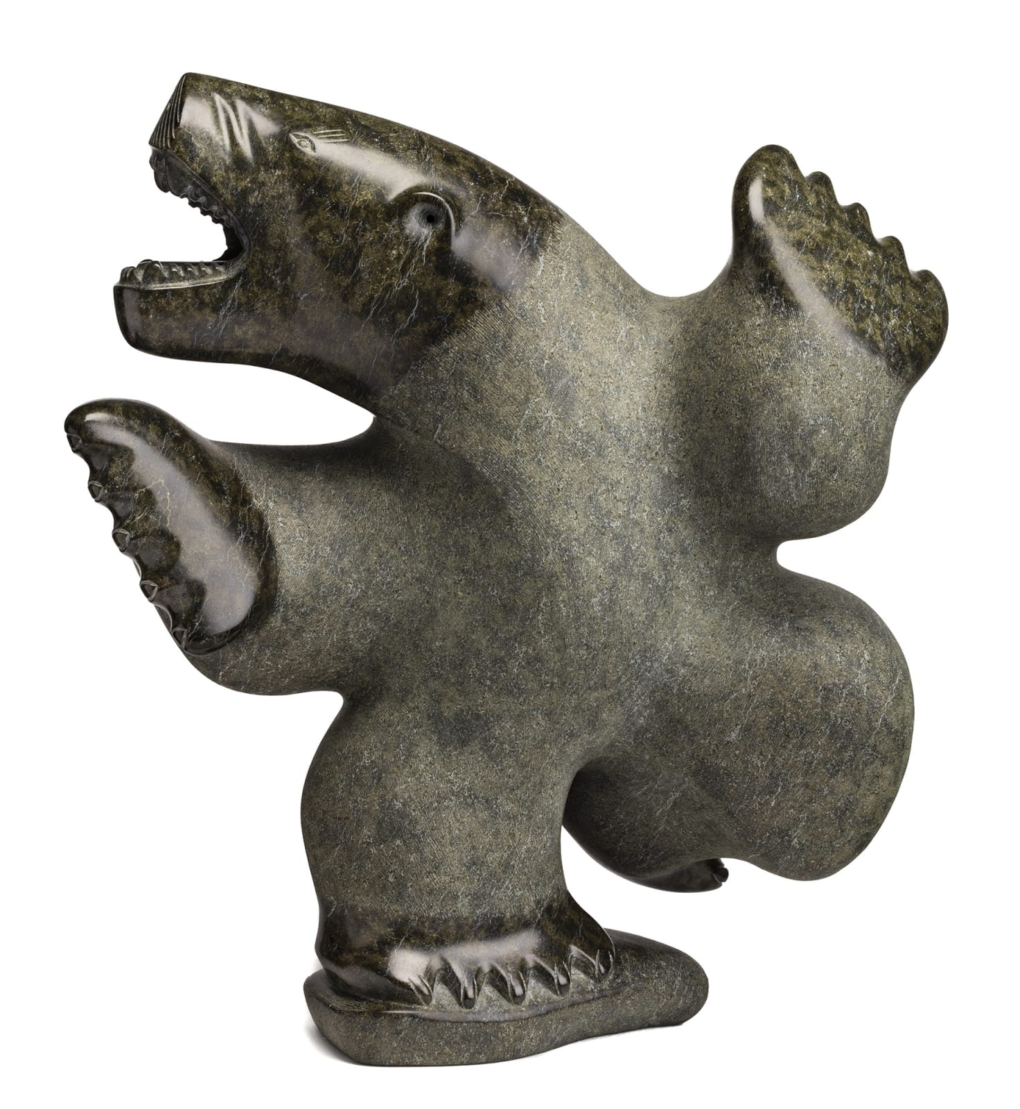 Lot 99 NALENIK TEMELA (1939-2003), m., KIMMIRUT (LAKE HARBOUR) Dancing Bear, 1989 stone, 24 x 22 x 10 in (61 x 55.9 x 25.4 cm) Estimate: $20,000⁠⁠⁠— $30,000