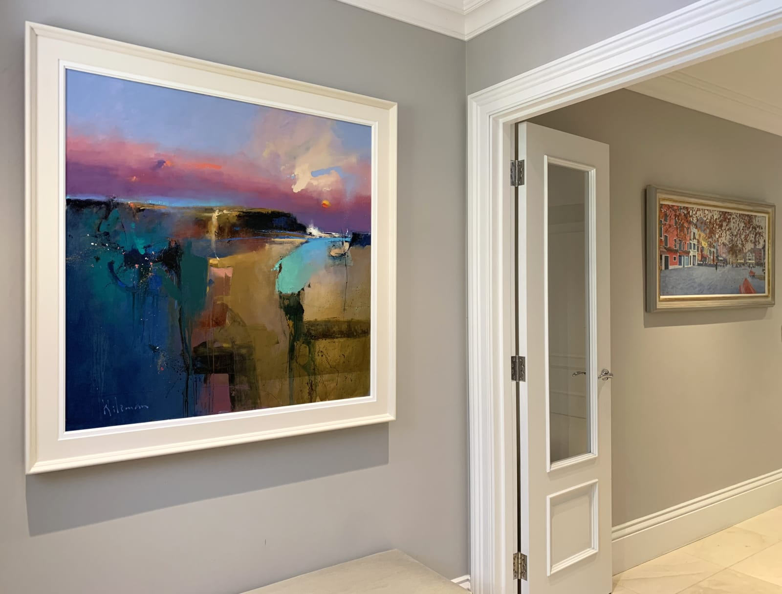 Statement pieces by Peter Wileman and Nicholas Verrall for a contemporary hallway