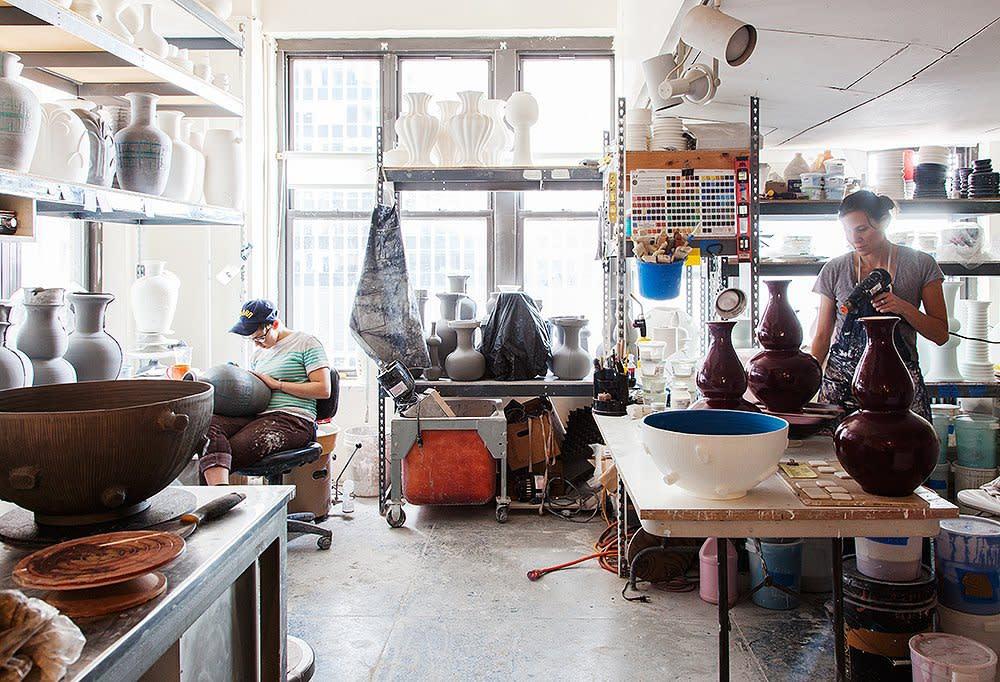 Artisans hard at work in the Christopher Spitzmiller studio
