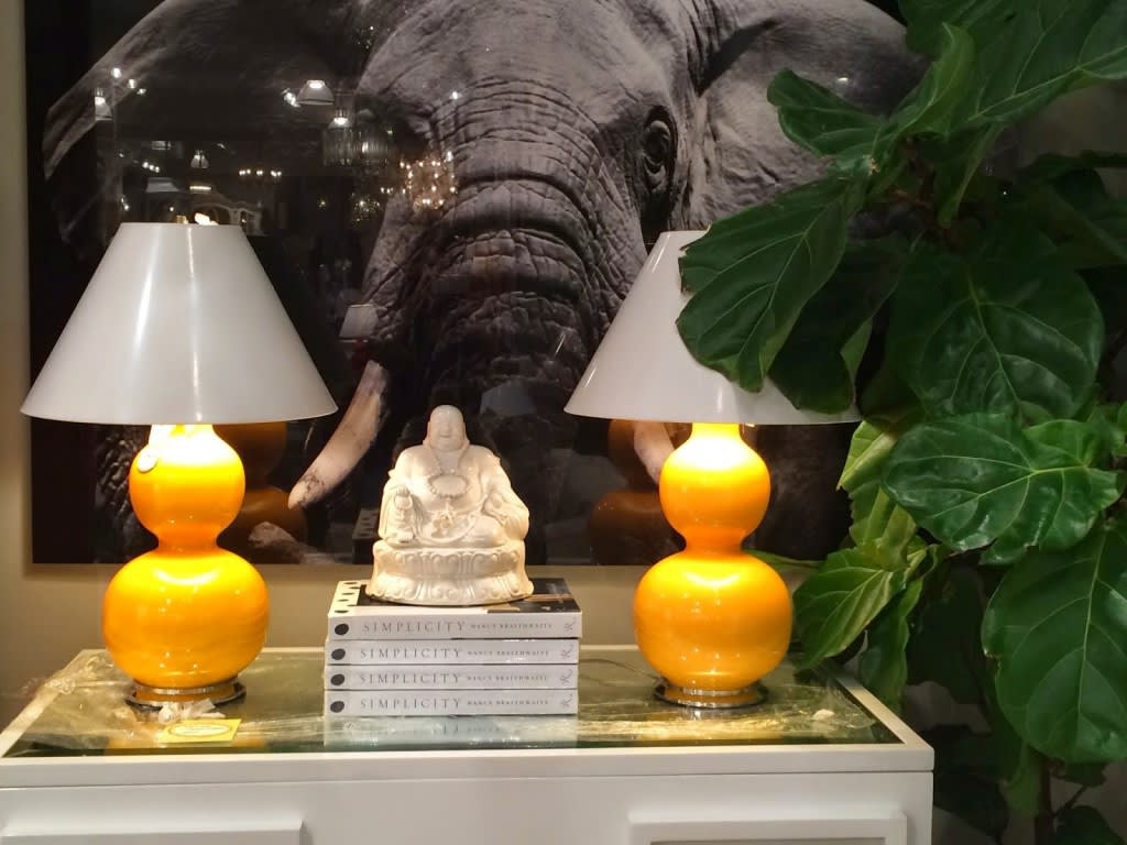 Wow - look an the impact of these Spitzmiller yellow lamps