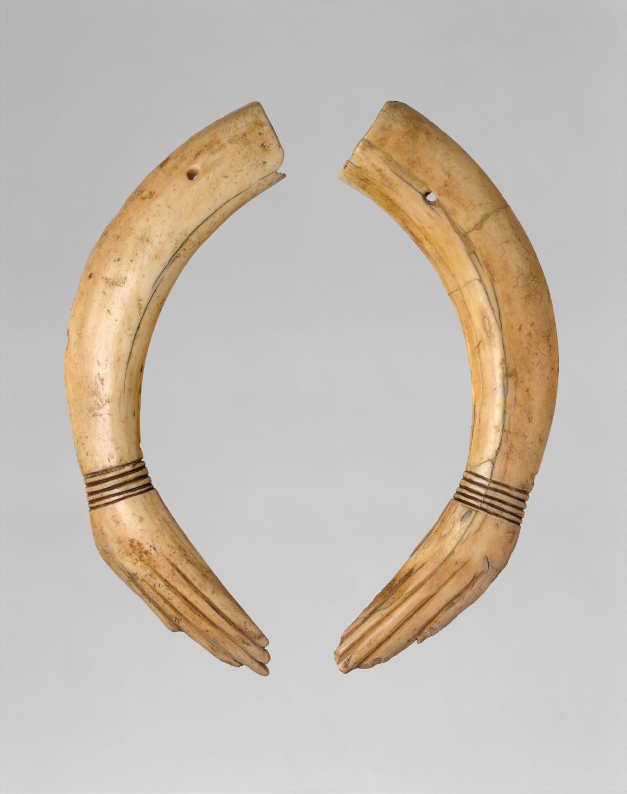 Pair of Clappers, ca. 1353–1336 B.C. Courtesy of The Metropolitan Museum of Art, New York.
