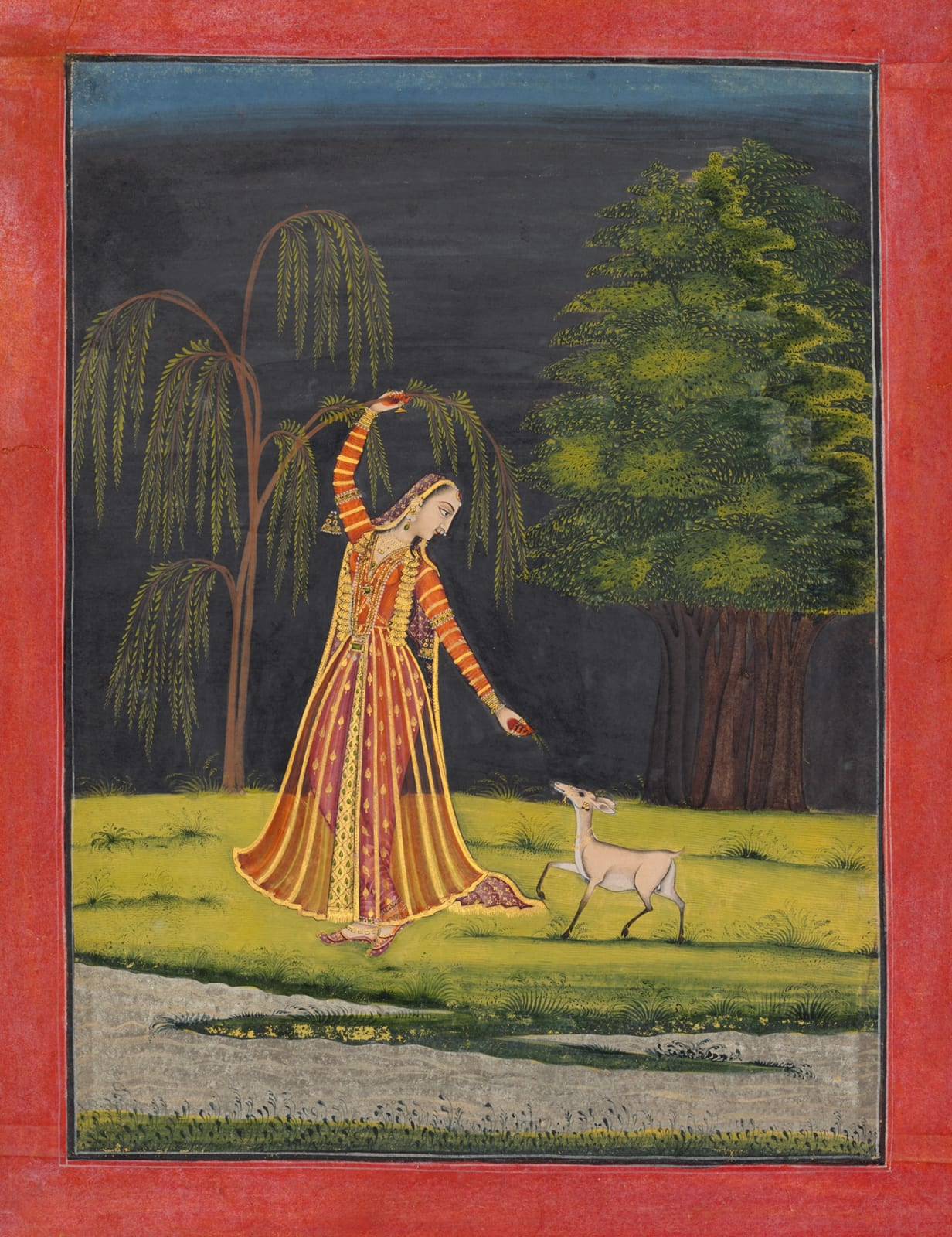 The lovelorn Utka Nayika, Chamba, School of Mahesh, c. 1765-70