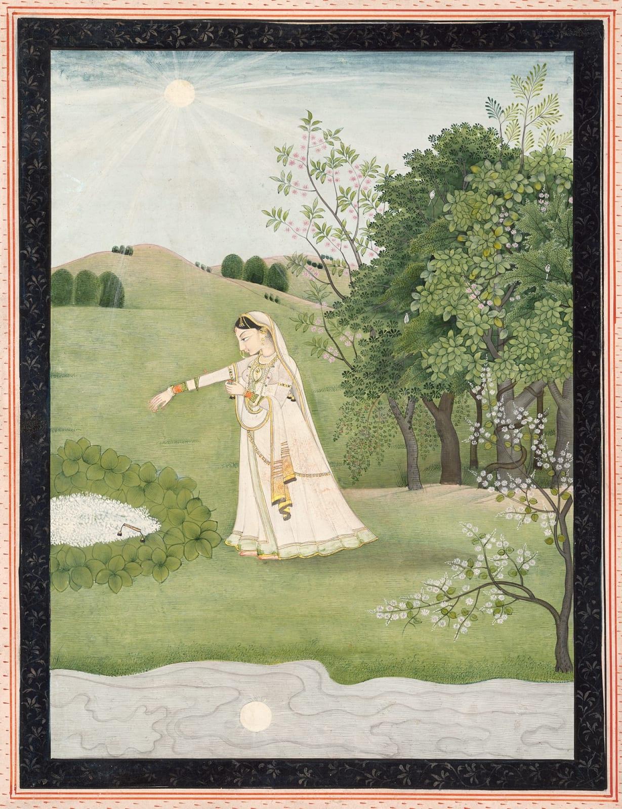 Vipralabdha Nayika, Style of Sajnu, Mandi, 1810-20