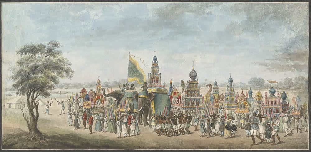 The ceremony of the Muhamedan festival Muharram. , Murshidabad, 1795–1807