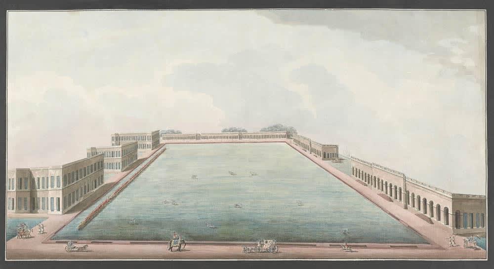 The new Berhampore cantonment., Murshidabad, 1795-1807