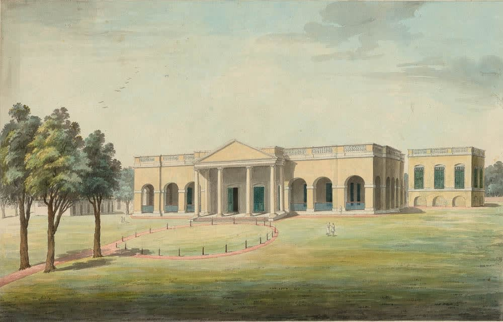 The house occupied by Captain (later Colonel) James Templer Parlby. , Murshidabad, 1795-1807