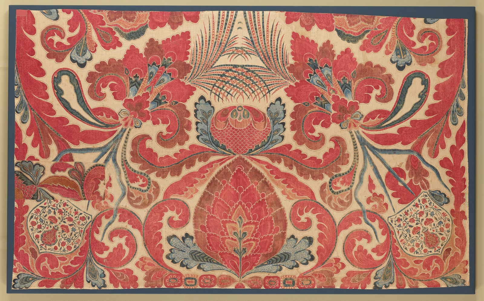 Large panel from a bedcover or hanging (palampore), Coromandel Coast for the European (probably Dutch) market, first half of the eighteenth century