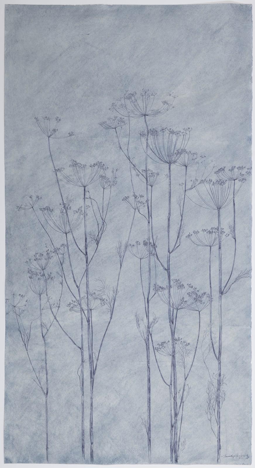 Sarah Horowitz, Blue Seed Heads, 2021
