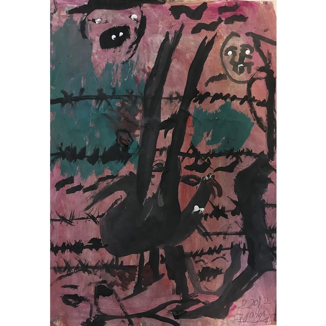 Ceija Stojka Untitled, ref 591, 02/2012 Gouache sur papier 41,5 x 29,5 cm (CST050)