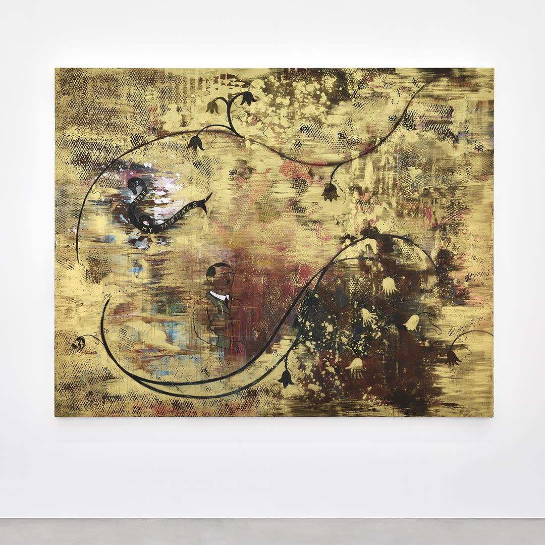 Hélène Delprat He hates his paintings, 2019 Pigment, liant acrylique sur toile 200 x 250 cm (HD1017)