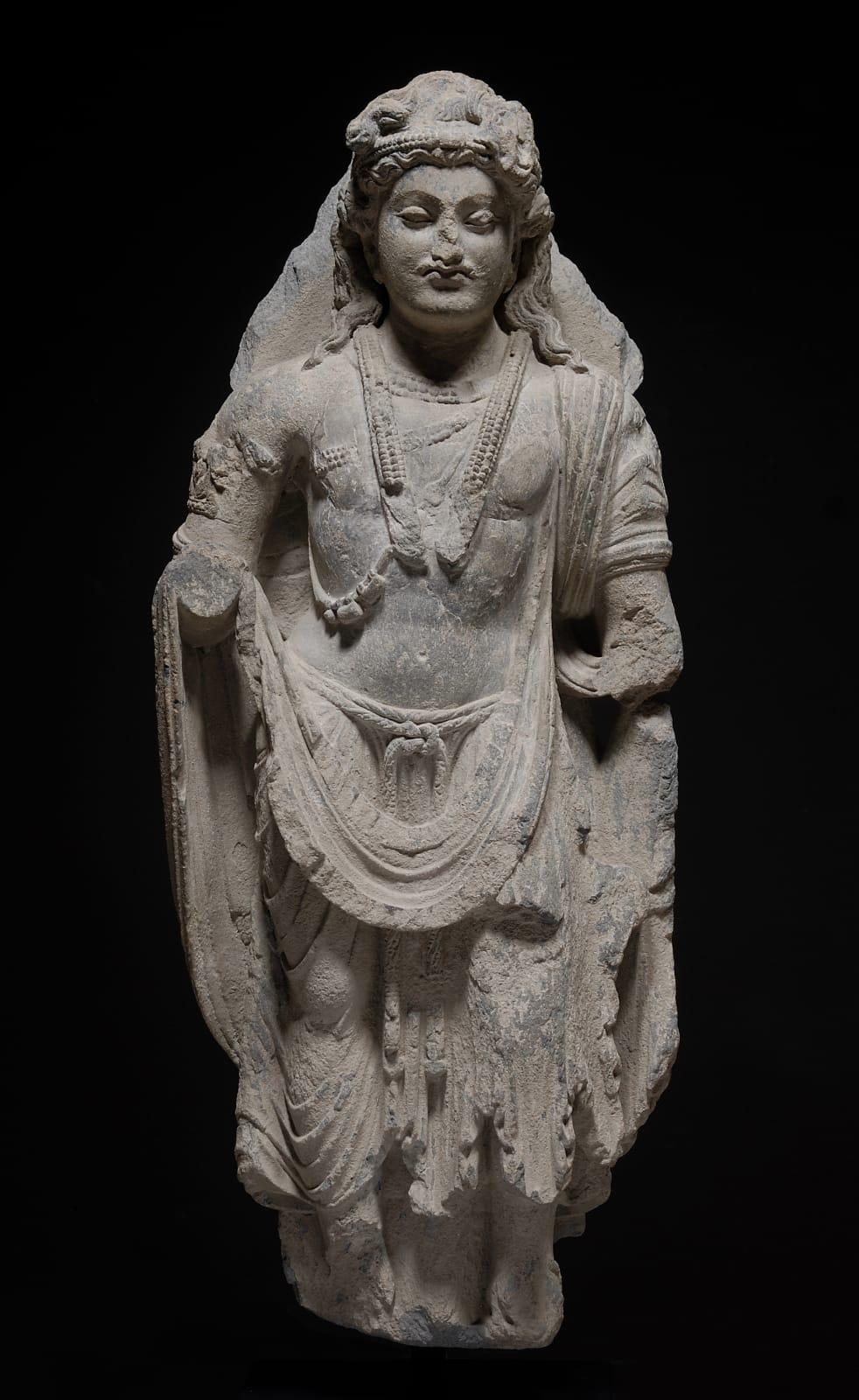 Art of Gandhâra, Bust of Bodhisattva, Kouchane, 2nd to 3rd century