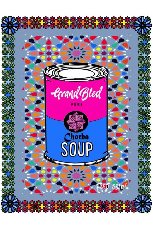 Fred Ebami, Chorba soup (édition limitée de 5), 2019 90 x 60 cm Impression sur toile