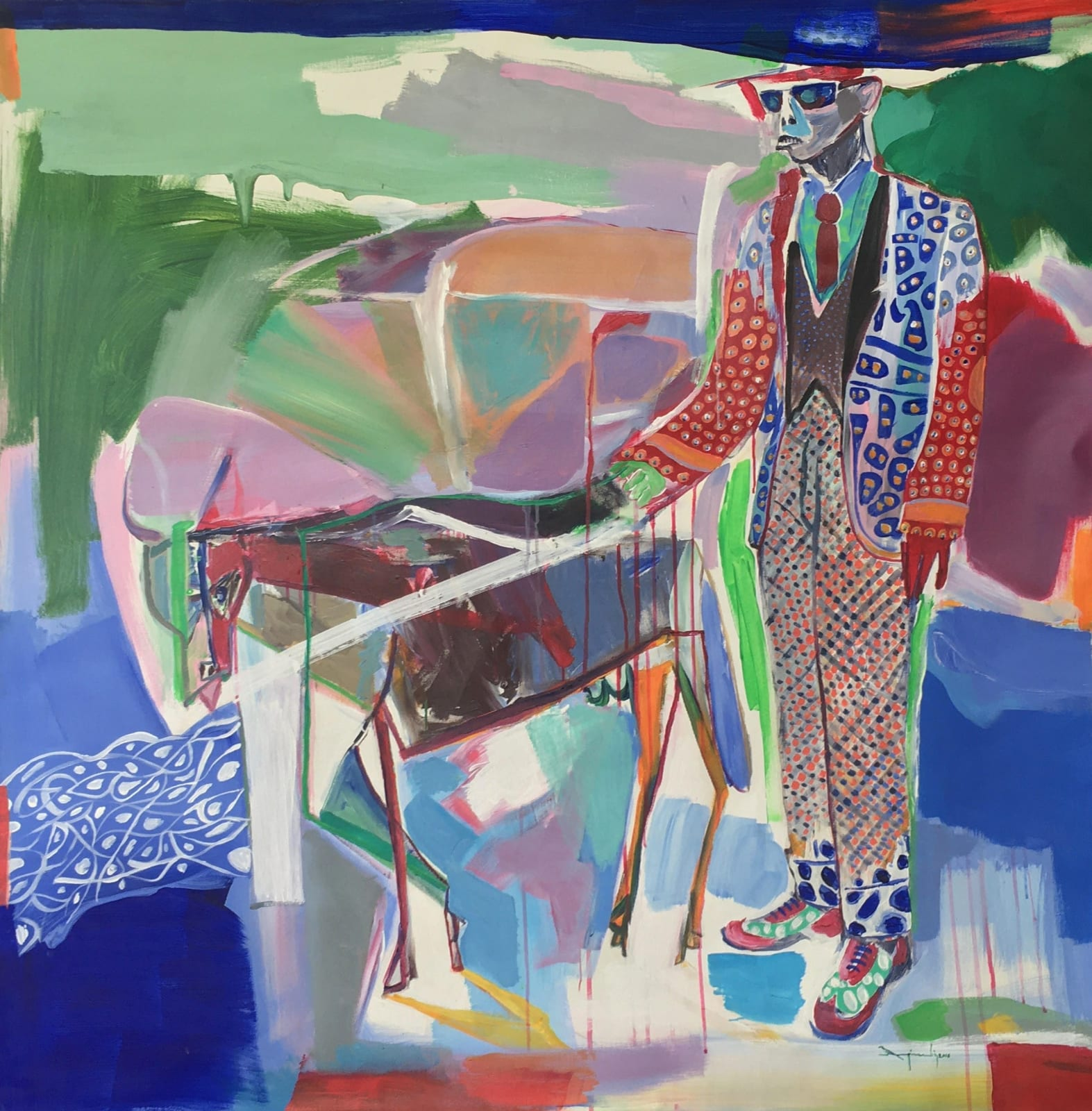 Ngimbi Luve, Sans titre, 2019 Acrylique sur toile 120x120 cm