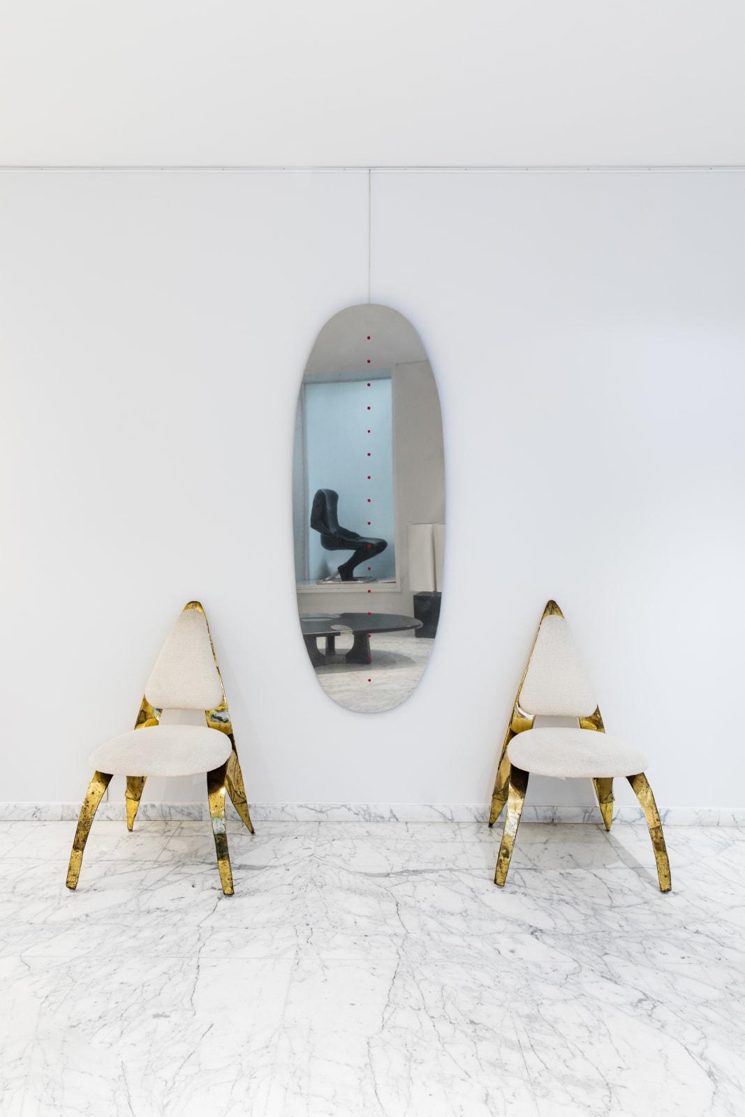 Pair of Chairs, HonorÉ paris Mirror, Dino Gavina