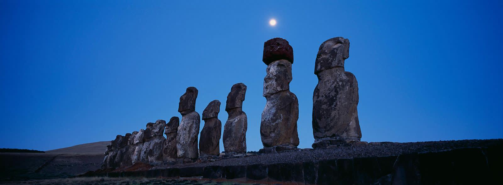 Matjaž Krivic, easter island moai