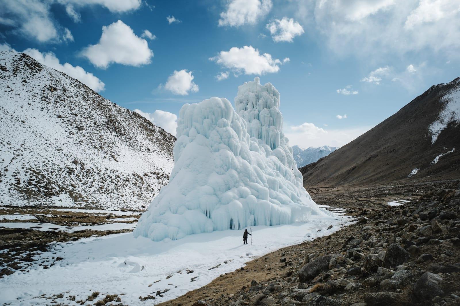 Ciril Jazbec, Ice Stupas #0004, 2018 - 2019