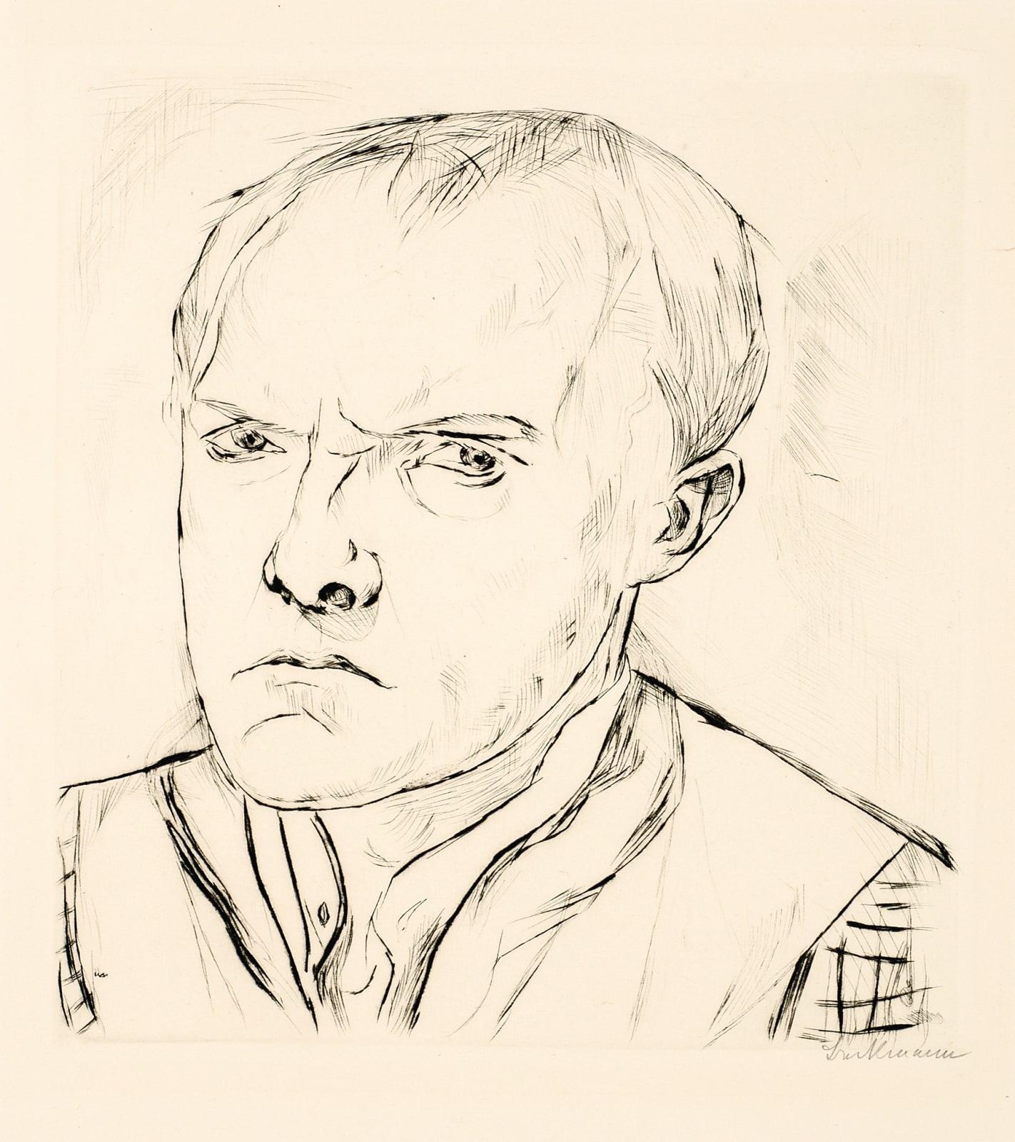 Max Beckmann Silbsbildnis (Self-Portrait), 1918