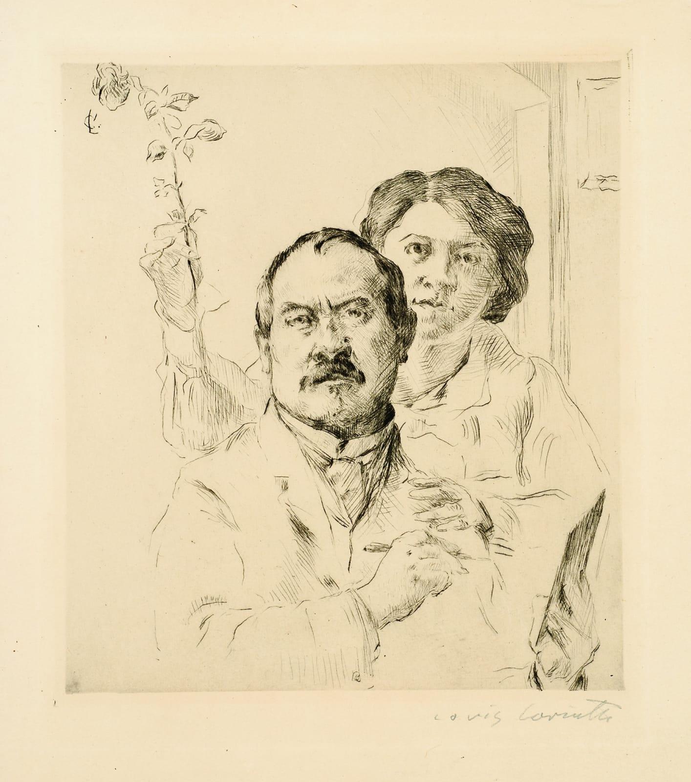 Lovis Corinth Selbstbildnis mit Gattin (Self-Portrait with Wife), 1904