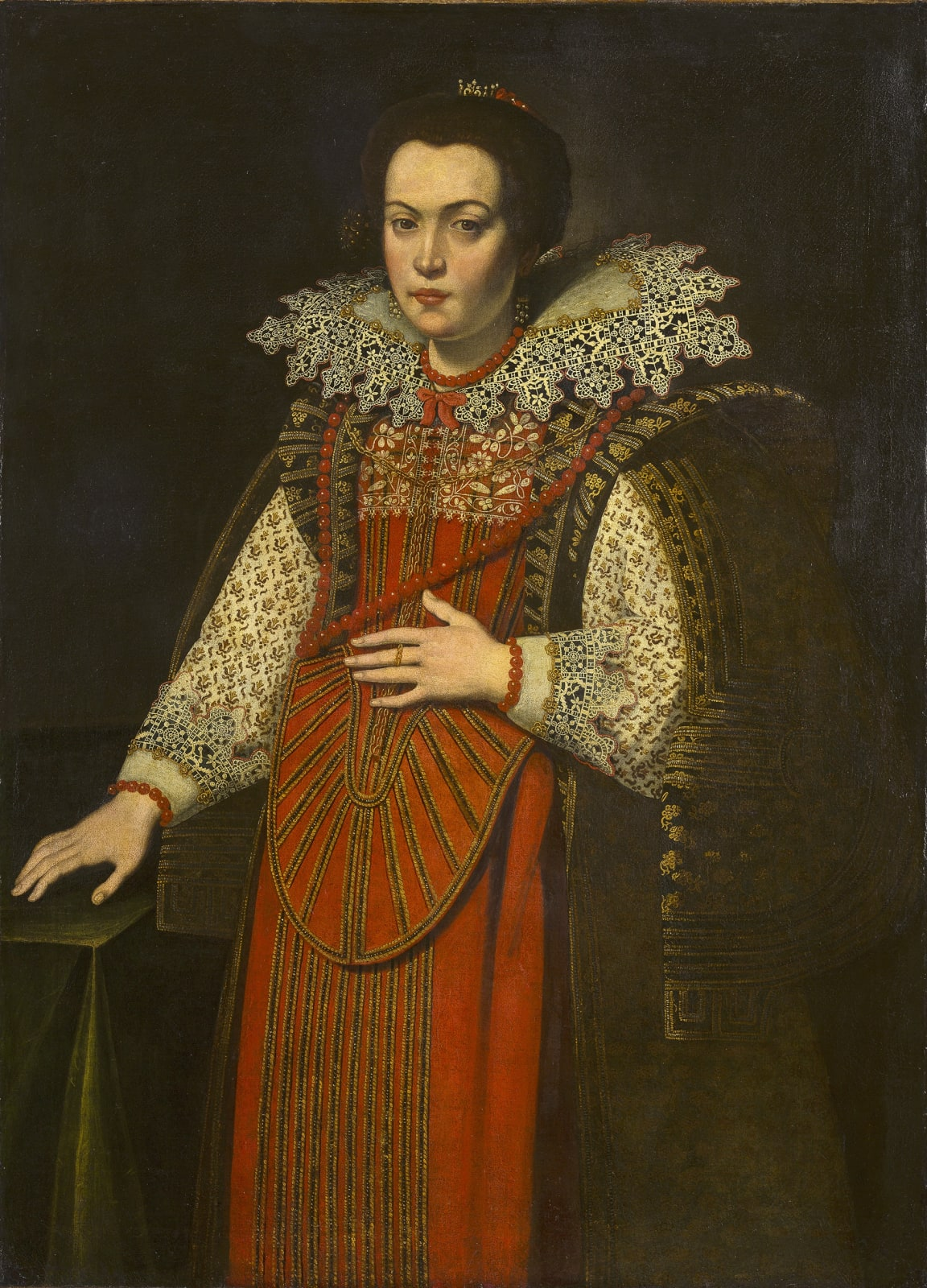 Justus Sustermans Portrait of a Lady in a Red Dress, ca. 1640