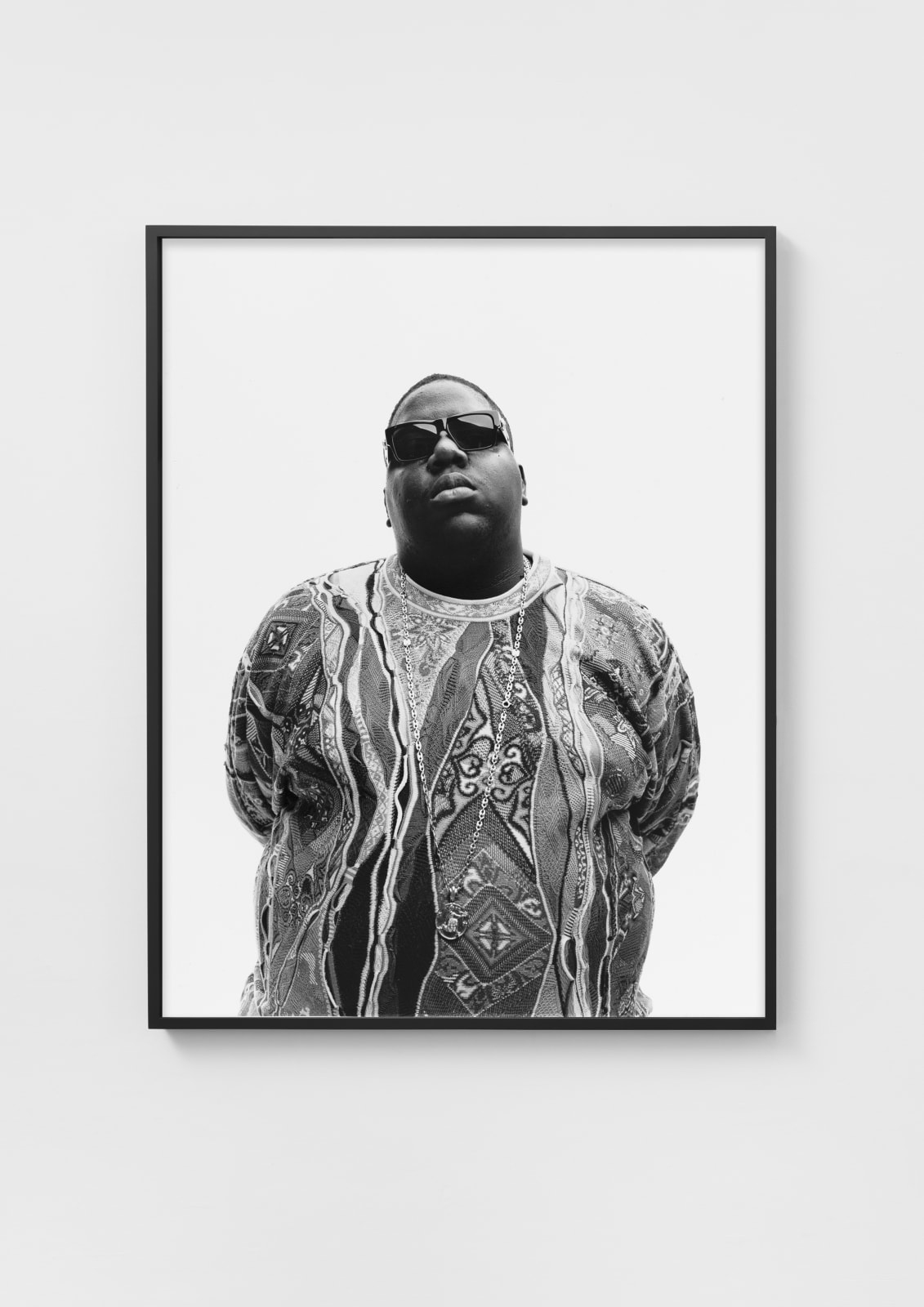 Christopher Wallace (Biggie), 1996 (II) Gelatin Silver print mounted on aluminum, maple frame, museum glass 59 x 46 cm 23 1/4 x 18 1/8 in Edition 4/10 plus 2 AP EUR 8.000 excluding taxes and shipping 127 x 100 cm 50 x 39 3/8 in Edition 4/10 + 2 AP EUR 20.000 excluding taxes and shipping