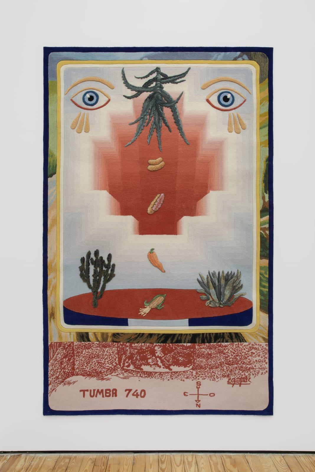 Kimsa Pacha, 2020 Tufting 250 x 156 cm | 98 3/8 x 61 3/8 in Edition 2/3 + 1AP $ 10,000.00