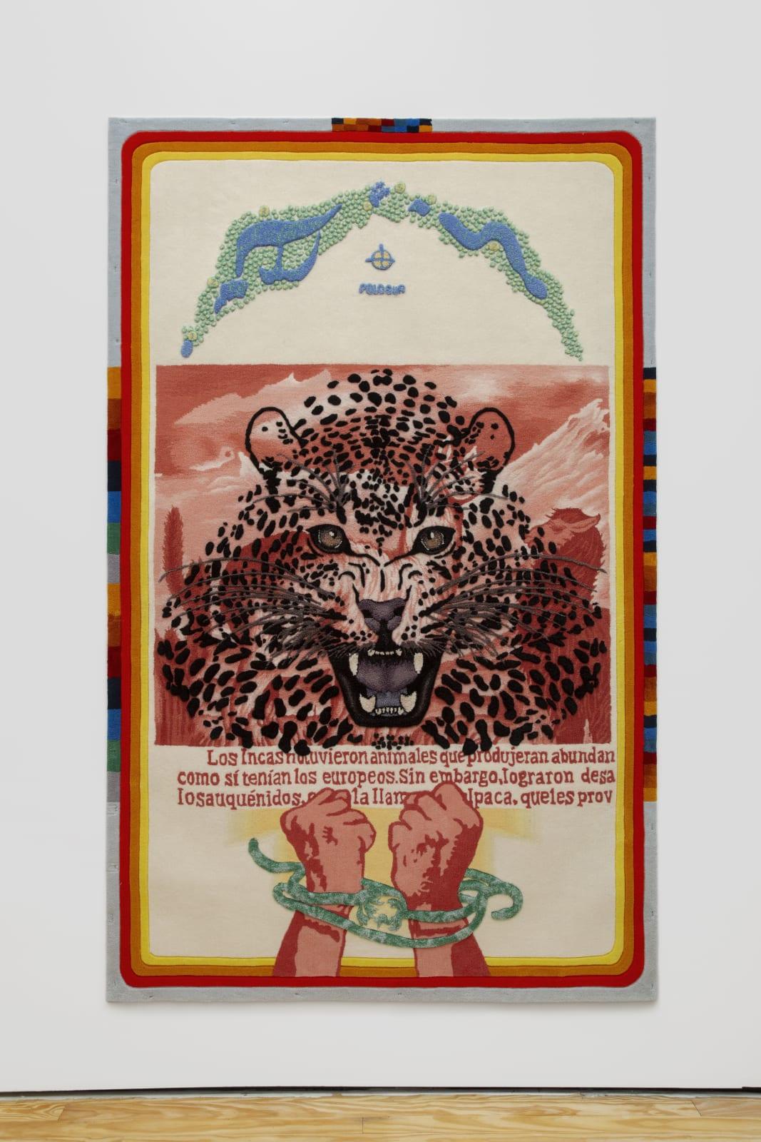 Suqta Pacha, 2020 Tufting 250 x 156 cm | 98 3/8 x 61 3/8 in Edition 2/3 + 1AP $ 10,000.00