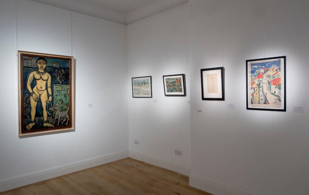 Souza in the 40s, Grosvenor Gallery, London