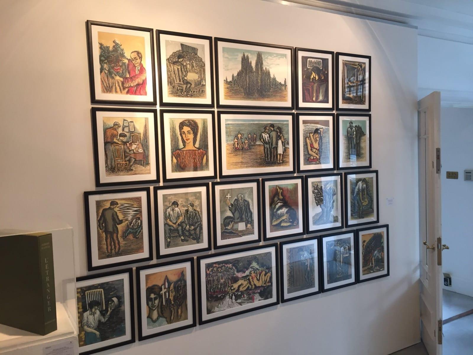 Sadequain in Paris, installation shot