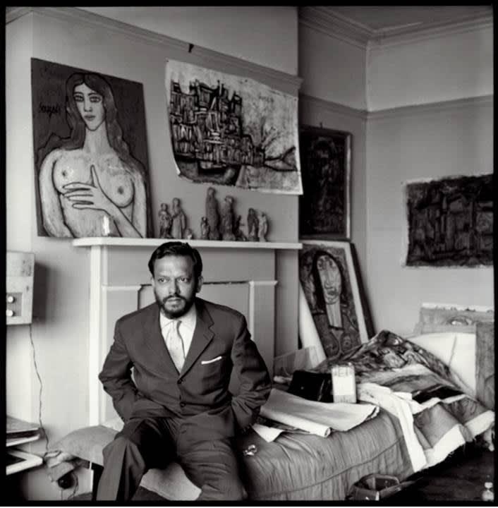 Ida Kar, F.N. Souza in his studio, 1958, limited edition of 10