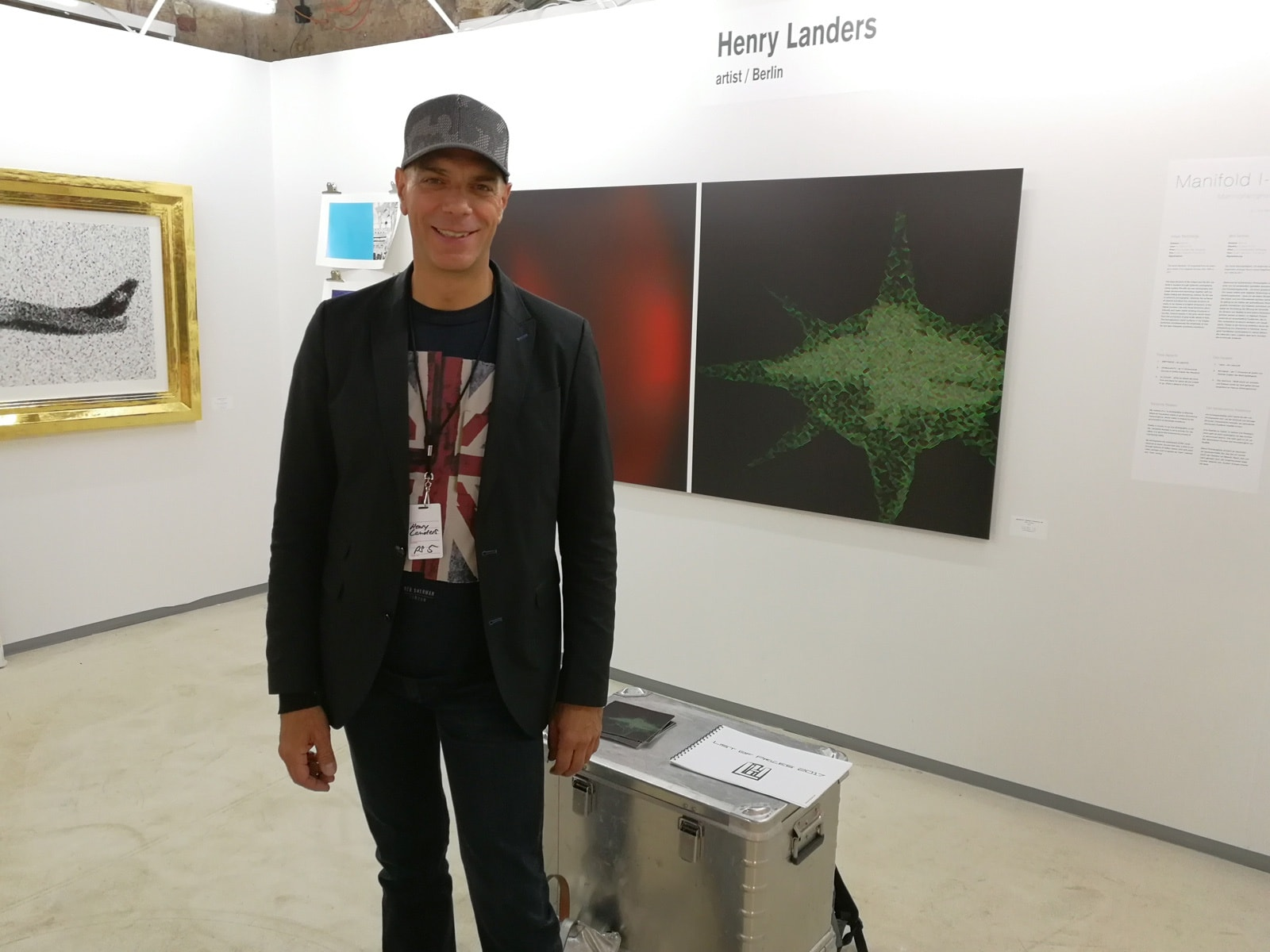 Henry Landers at his exhibition box