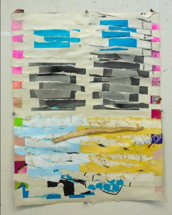 Brian Belott, Ripped Paper Collage 2, 2020, paper, adhesives, 21 x 16 inches.
