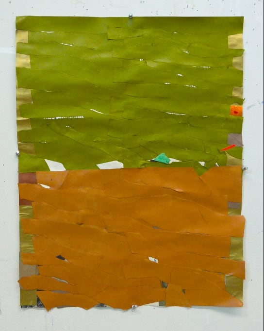 Brian Belott, Ripped Paper Collage 3, 2020, paper, adhesives, 21 x 16 inches.