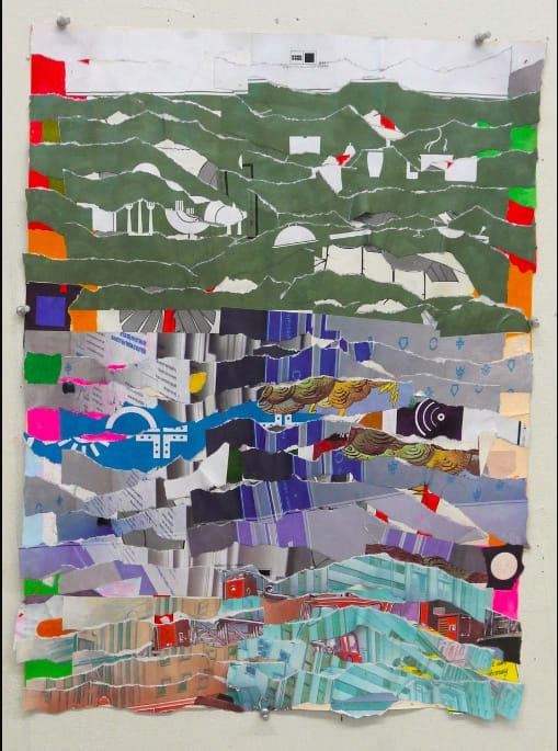 Brian Belott, Ripped Paper Collage 5, 2020, paper, adhesives, 21 x 16 inches.