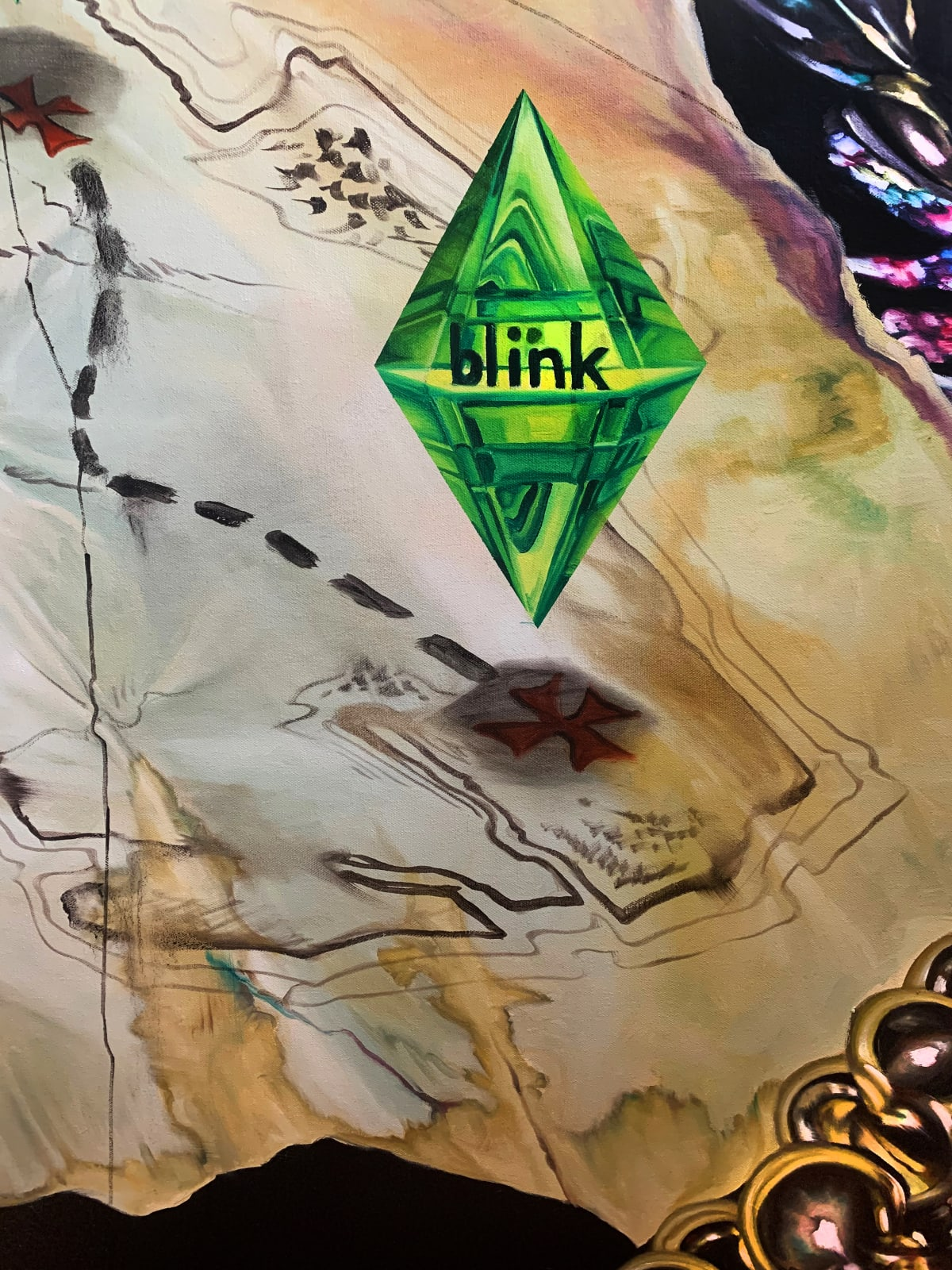 Fancesca Facciola Journey to my Blink Membership, (Detail) Oil on canvas, 2019, 60