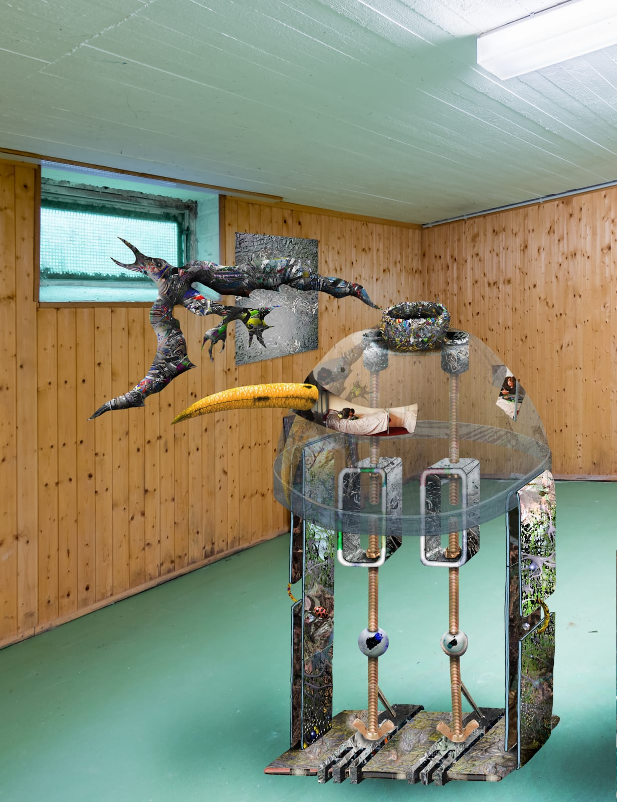 Jacques Louis Vidal, Im like a Bird, 2020, digital collage, dimensions variable.