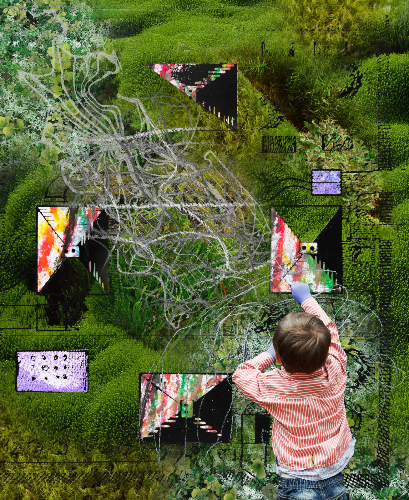 Jacques Louis Vidal, Moss Child. 2020, digital collage, dimensions variable.