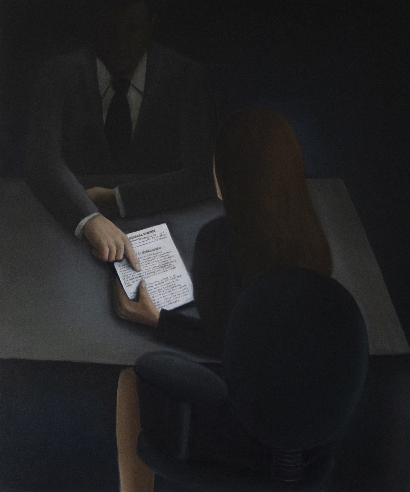 Vannessa Gully Santiago, NDA, 30 x 36 inches, Oil on Canvas,2020