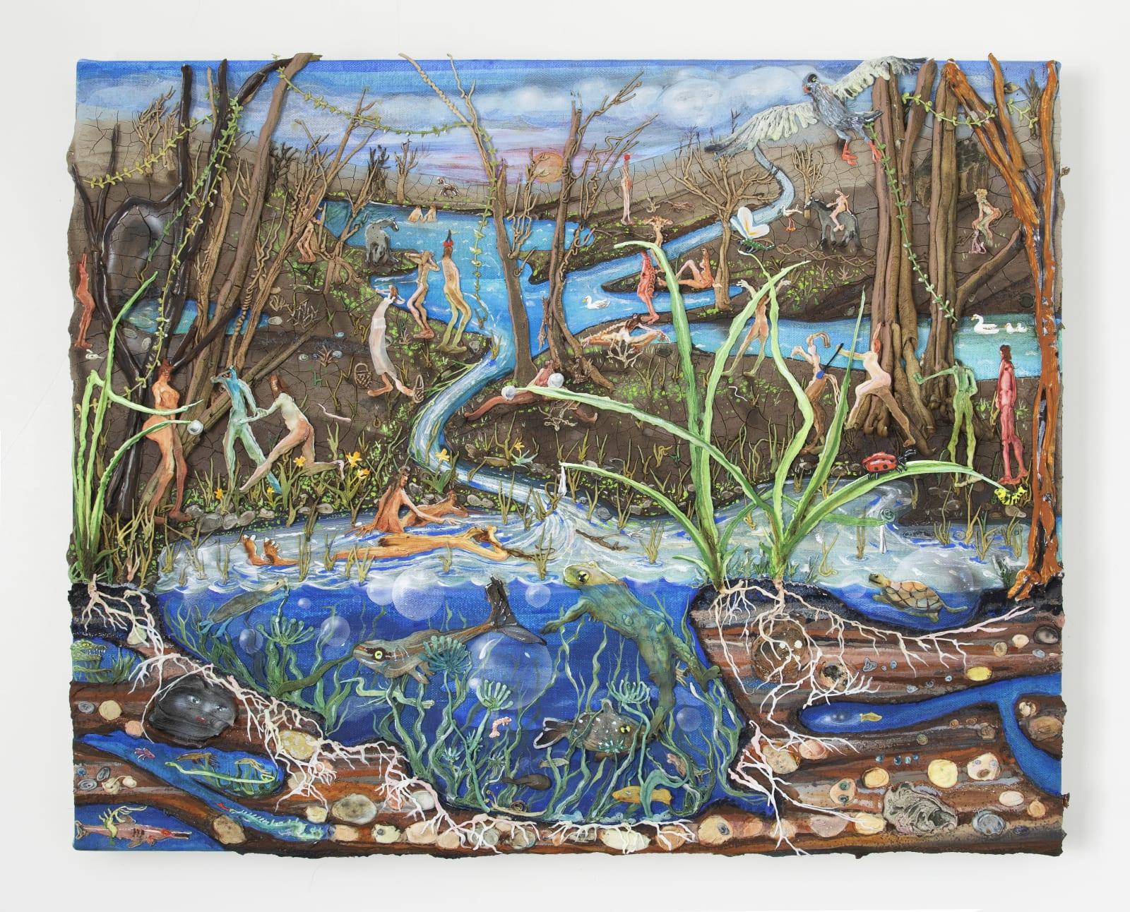 Kate Klingbeil, Primaveral, 2020, 16.25 x 20 x 2