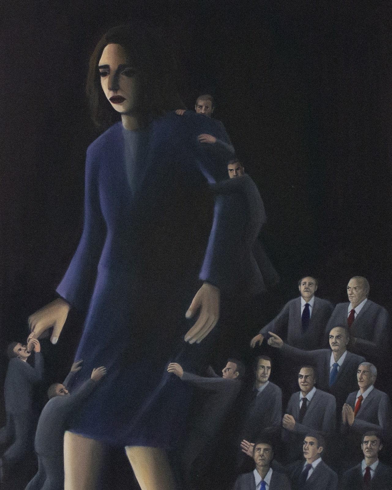 Vanessa Gully Santiago, Trolls, 24 x 30 inches, Oil on Canvas, 2020