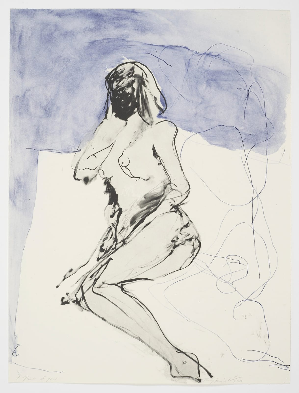 Tracey Emin I Think of You, 2014 Lithographic print in 2 colours on Somerset 300 gsm paper Hand-signed, numbered and dated by the artist. Edition Number 66 of 100