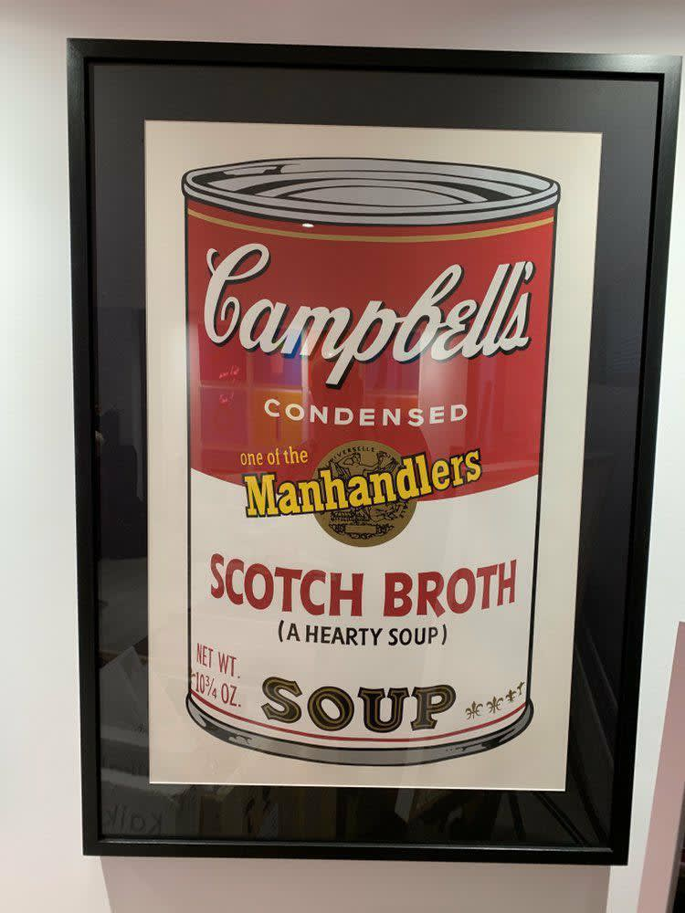 Andy Warhol Scotch Broth Campbell's Soup Can Original hand-signed screen print Edition of 250