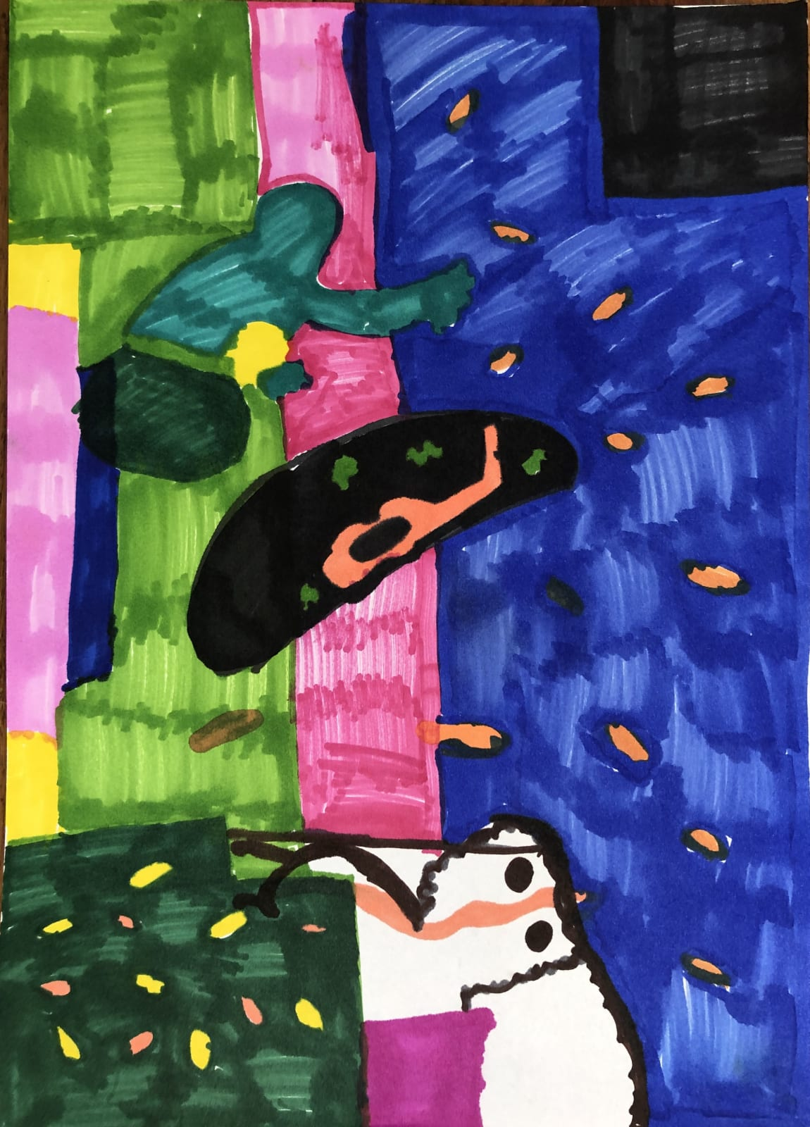 Mari Jones, age 8 Inspired by Matisse