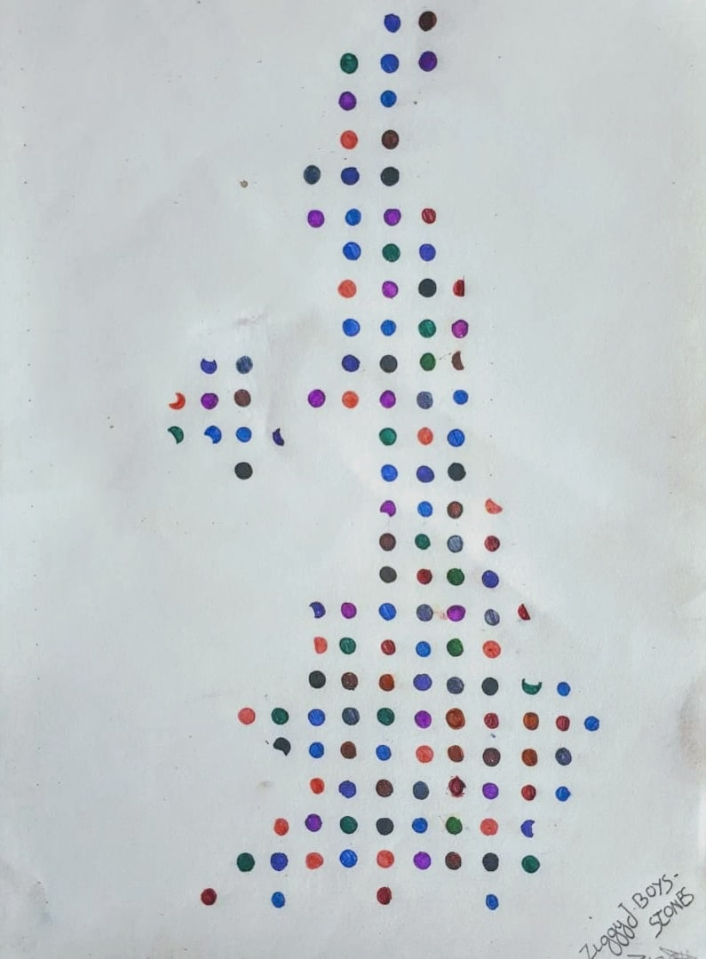 Ziggy, age 12 Inspired by Damien Hirst - Spots