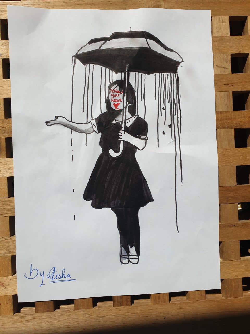 Aisha Ali, age 11 Inspired by Banksy Noel