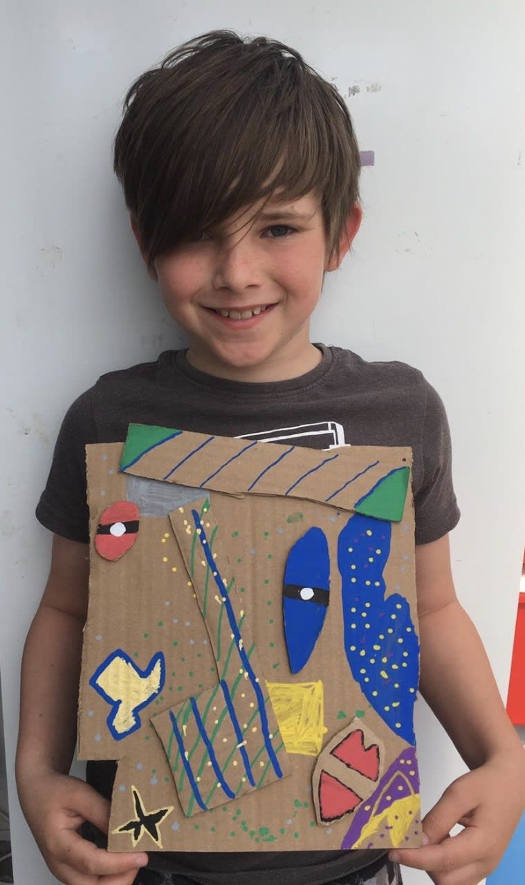 Joshua Ives, age 8 Pablo Picasso and his Cubism theories.
