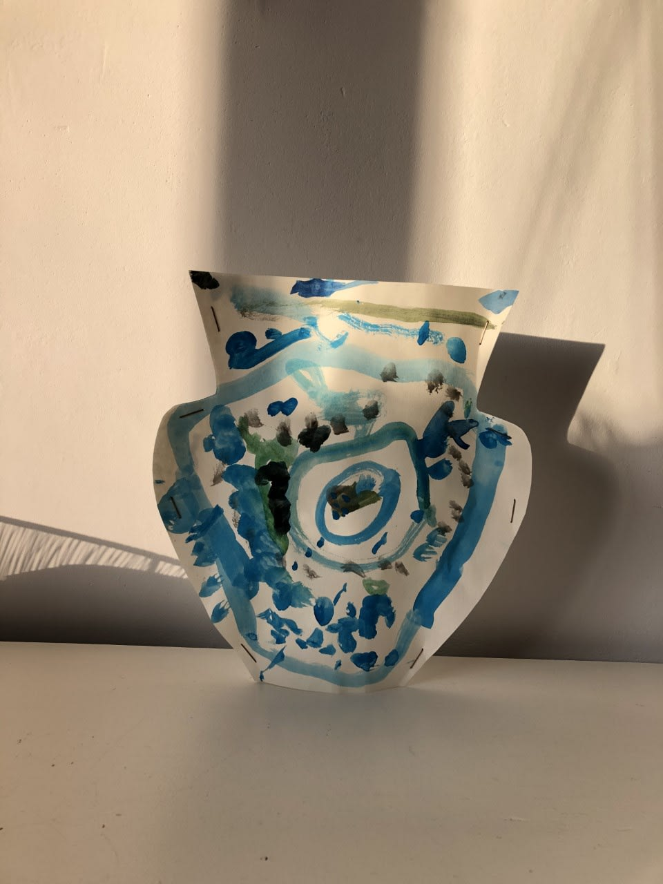 Joseph Goodridge, age 3 Matisse inspired cardboard Ming Vase